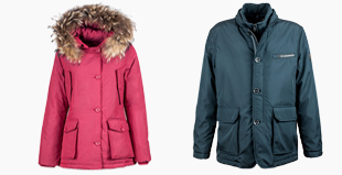 down coats stock